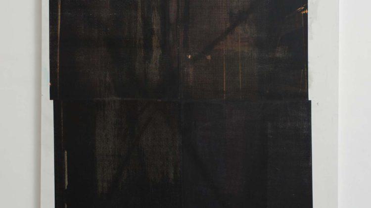 Baptiste Caccia Croix sur panneau (l'étoile noire) n°5 2014 Serigrafia e acrilico su tela 200 x 160 cm