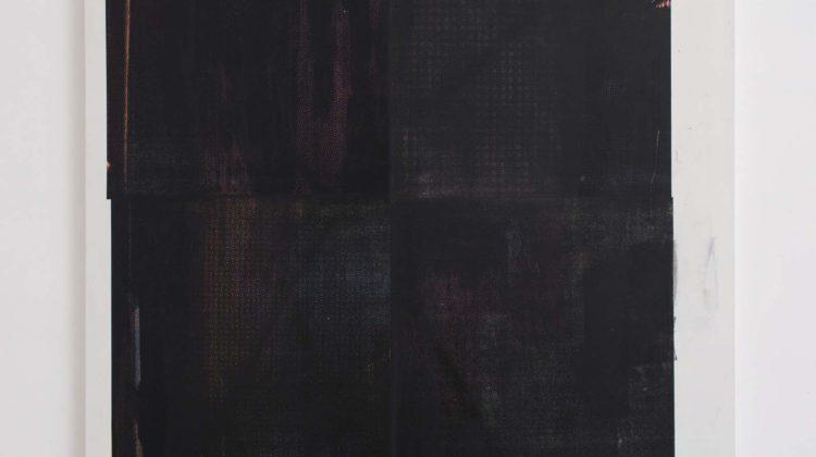 Baptiste Caccia Croix sur panneau (l'étoile noire) n°4 2014 Serigrafia e acrilico su tela 200 x 160 cm