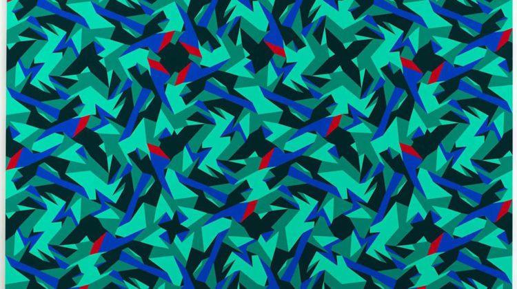 Sergio Lombardo -  Pittura stocastica, Finding Symmetries (Foresta) - vinilico su tela - 2014 - 300x200cm