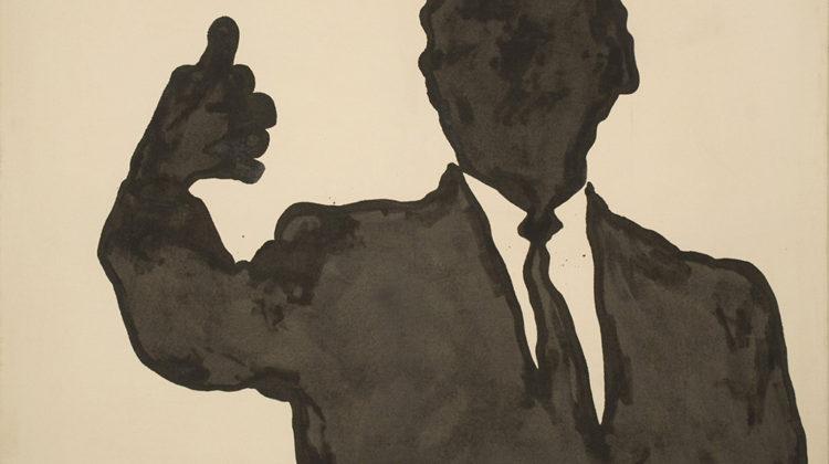 Sergio Lombardo - Rockefeller - smalto su tela - 1963 - 180x230cm