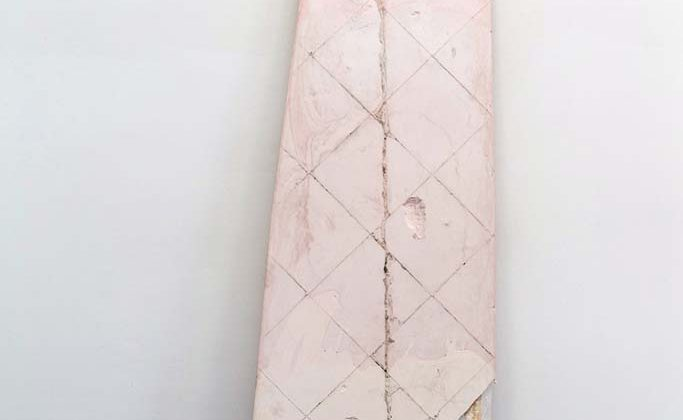 Josh Tonsfeldt - Untitled - 2014 - pigment ink on plaster  243 x 75 cm