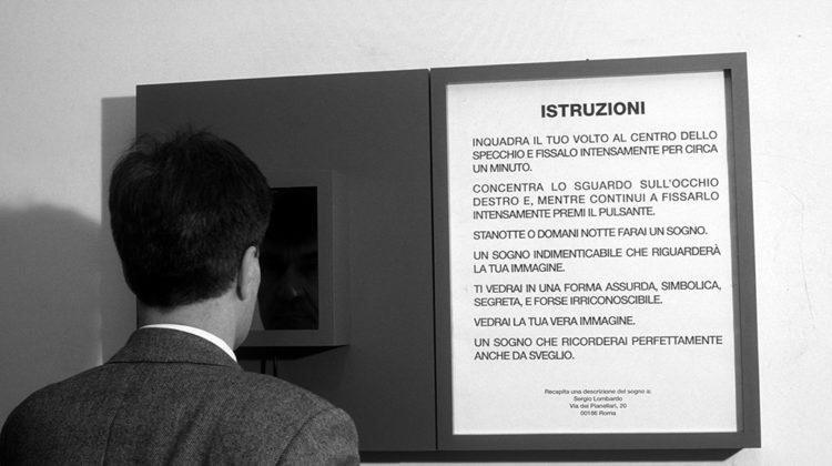 Sergio Lombardo - Specchio Tachistoscopico con stimolazione a sognare - 1979