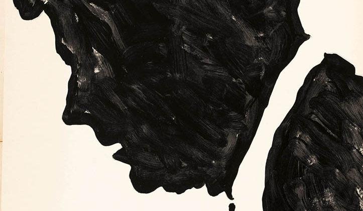 Sergio Lombardo - Kennedy che piange - smalto su tela - 180x120cm