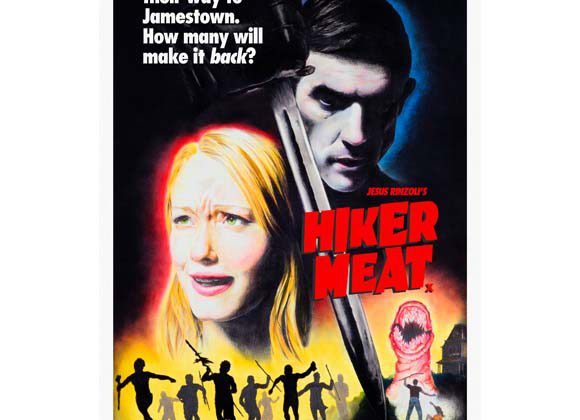 Jamie Shovlin - Hiker Meat (US One Sheet) Edition of 3+2AP - 2011 Giclée print 104X69 cm