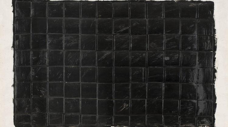 Sergio Lombardo - Monocromo Nero - collage e smalto su carta - 1959 - 75X50cm
