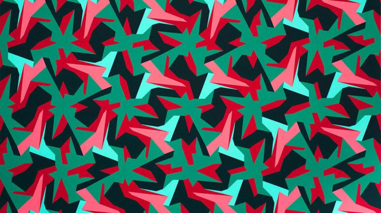 Sergio Lombardo - Pittura stocastica V-RAN - vinilico su tela - 2013-14 | 300x200cm