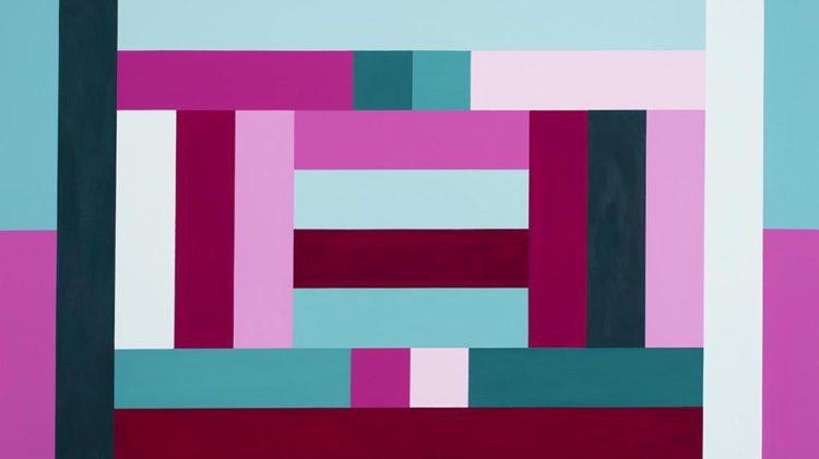 Sergio Lombardo - Mappa di Heawood a 12 colori - vinilico su tela - 2003 - 210x150cm