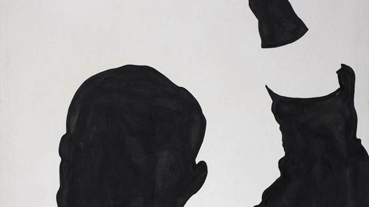 Sergio Lombardo -  Krusciov -  1961-63 -  smalto su tela 180 x 230 cm