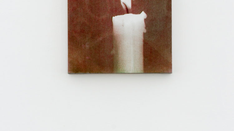 Jamie Shovlin -  Flame (Imperfect) -  2014 - Acrylic on board 38,6 X 28,6 cm