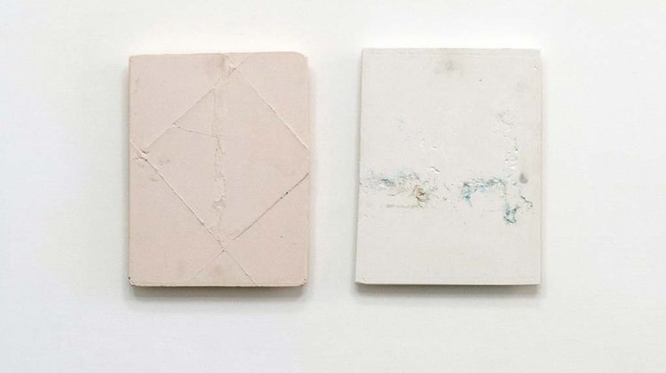 Left: Josh Tonsfeldt -   Untitled -  2014 -  pigment ink on plaster  35 x 45 cm |   Right: Josh Tonsfeldt - Untitled - 2014 - pigment ink on plaster  35.5 x 46.3 cm