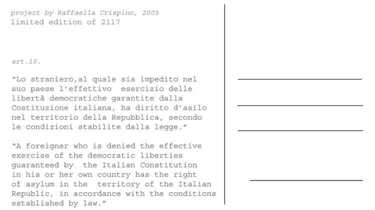 Raffaella Crispino - Canal Grande + 2117 Clandestine (retro) - 2005 - postcards 10x15cm