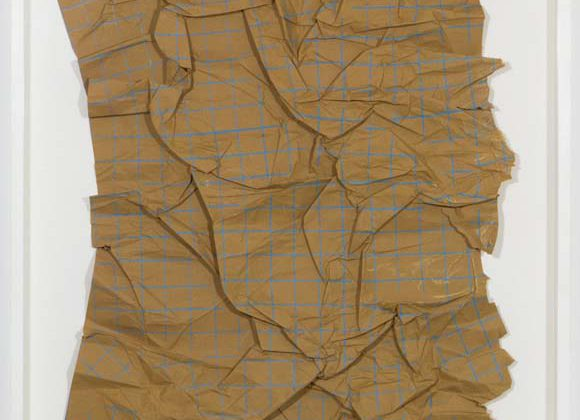 Duncan Marquiss -  Crushed Grid -  2012 -  Pencil on paper 60 x 51 cm