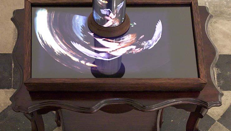 Mat Collishaw - East of Eden - 2006 - Wood, steel, mirror, lightbox 53 x 36 x h. 91 cm