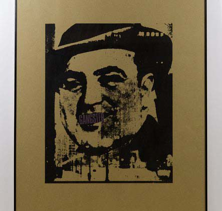 "Fabio Mauri - ""Gangster"" - 1974 - Silk screen 66 x 92 x 2 cm"