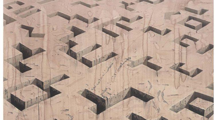 Los Carpinteros - La Lengua de la Tierra - 2006 - wc/ paper 116 X 117,2 cm /45,7 X 46,1 inches