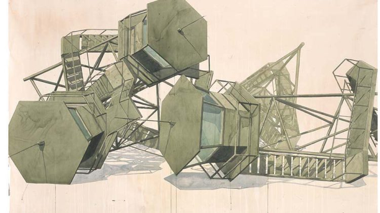 Los Carpinteros - Sistema - 2006 - wc/ paper 138 X 147 cm/ 54,3 X 57,9 inches