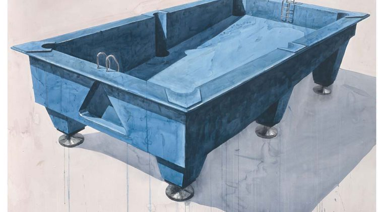 Los Carpinteros - Pool - Pool - 2006 - wc/ paper 114 X 162,5 cm /44,90 X 63,98 inches