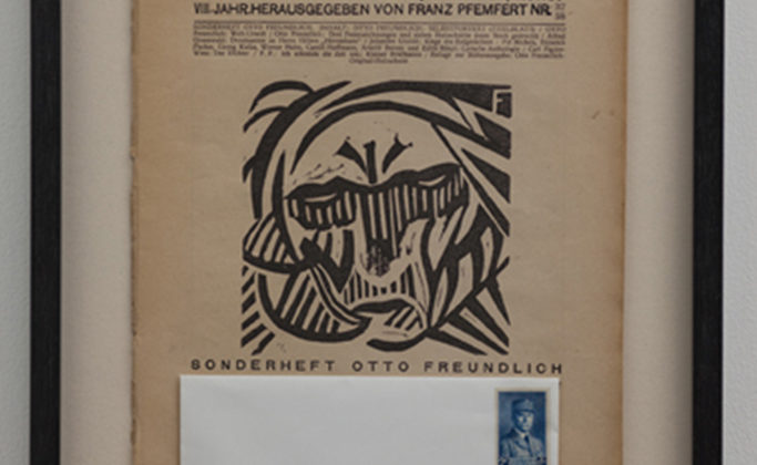 Per-Oskar Leu - Lieber Arno - 2010 - From the exhibition BFF Framed magazine, envelope, postal stamp 42x32cm