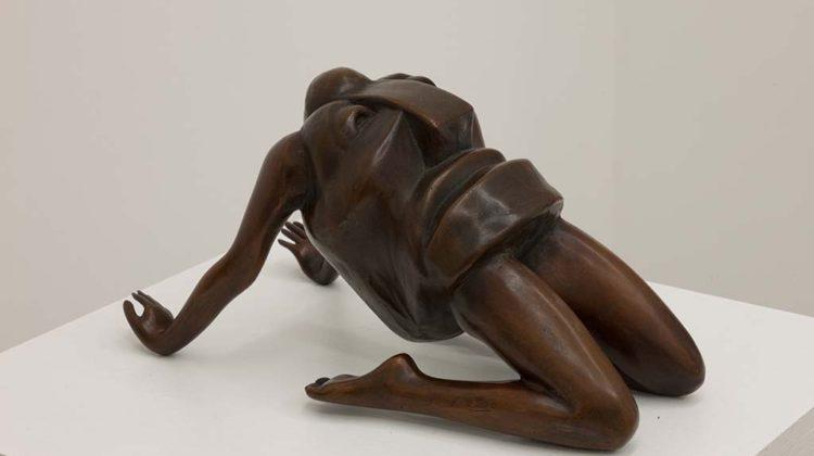 Per-Oskar Leu- Der neue Mensch - 2010 - From the exhibition BFF Appropriated Arno Breker sculpture, cast bronze 29x18x15cm