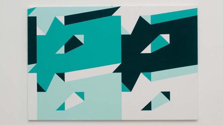 Sergio Lombardo - Pittura Stocastica - 2008 - Vinilico su tela  100 x 150 cm