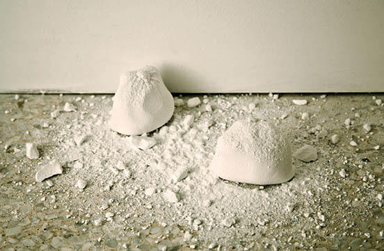 Marysia Gacek - Slippery Thoughts - 2011 - Climbing chalk balls Dimensions variable