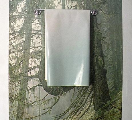 Marysia Gacek - Mountain Fresh (Dawn) - 2010 - Archival quality inkjet print on canvas, oil on canvas, aluminium bar 152,4 x 121,9 cm