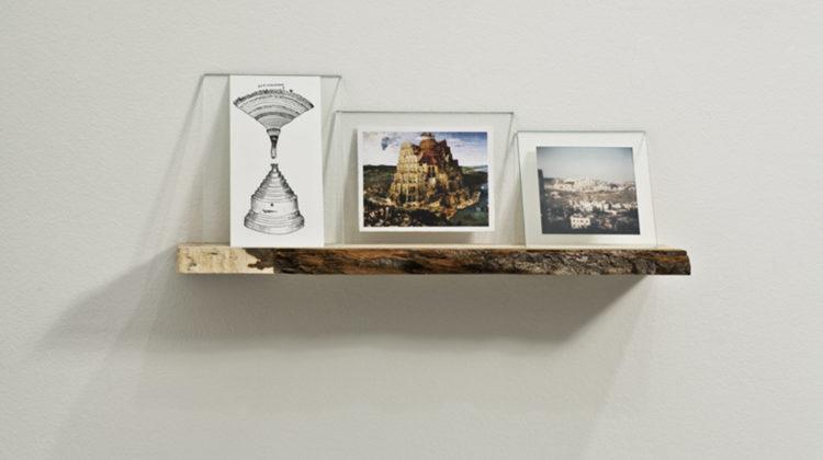 Raffaella Crispino - Har Homa - 2010 - ash wood, glass, c-print photograph, laser print, drawing 45x10x20cm