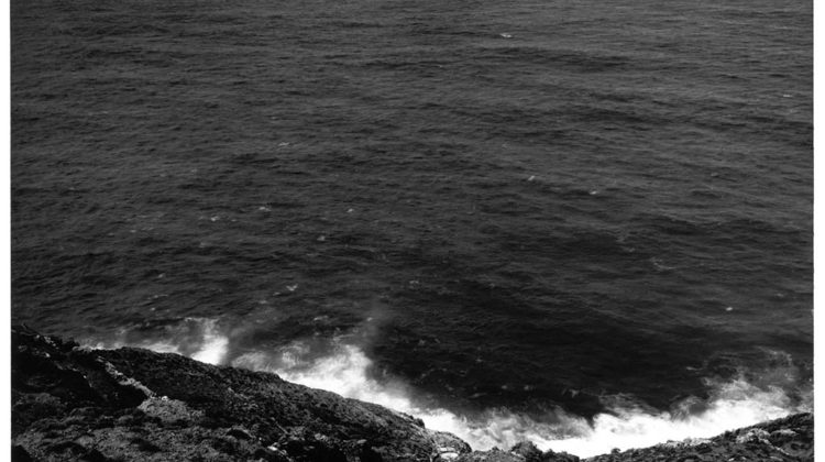 Thomas Joshua Cooper - North - The Mid North Atlantic Ocean Porto das Eiras, The Isle of Porto Santo The Madeiran Archipelago, Portugal, The North-most point of the Island -  2002 - Gelatin Silver Print Mount: 71 x 91 cm