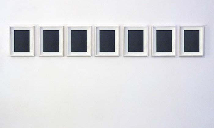 7 reversed mirrors - 2010 - 7 mirrors, 7 wooden frames 41,5 x 33 cm (each, framed)