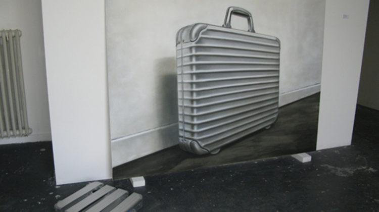 Per-Oskar Leu - Malerei. Klasse! - 2009 - Acrylic on canvas, aluminium. Painting by Werner Werbung, Berlin 150 x 200 cm