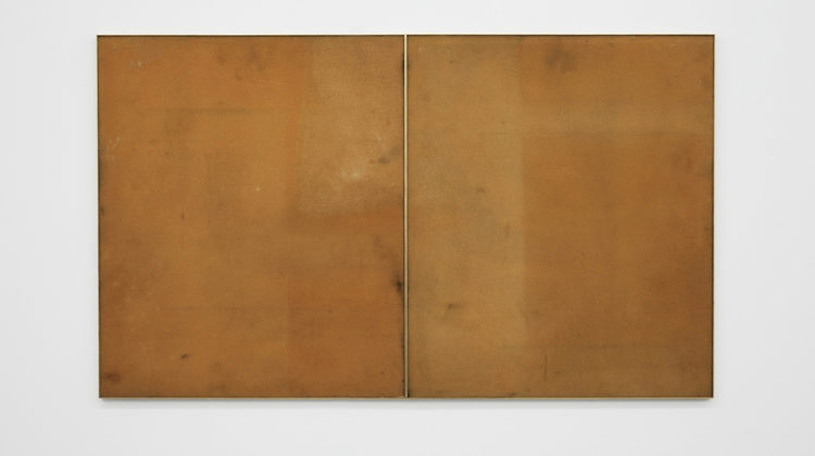 Adam Thompson -  Untitled -  2010 -  Solarized foam sheets, brass frame, diptych 112 x 66 cm