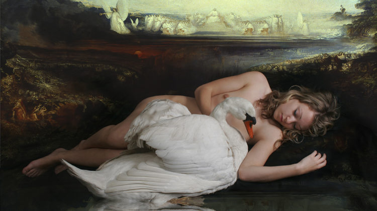 Mat Collishaw - Leda and Swan - 2007 - C-type photo on Dibond - 218 x 137 cm Ed. of 3