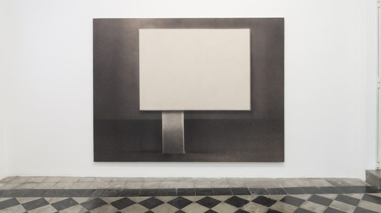 Marco Tirelli, Senza titolo, 2010, Ink and acrylic tempera on canvas, 225x300 cm Photo credit: Andrea Simi